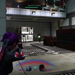 Shepard et ses alliés sont dans une base pleine de cargo. Un ennemi galarien est en train de courir vers les protagonistes mais se fait tirer dessus.