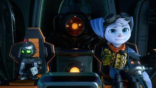 Rivet et Clank sont assis dans un vaisseau spatial, ayant un air découragé.